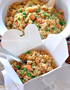 veggie fried rice - my baby girl eats this up