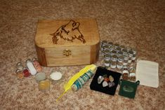 Witches Restock Herb Box , Spirit Wolf  #1 ,Witches Spell Box,Altar Kit,Wiccan Herbs