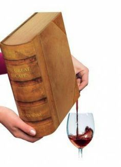 Book shaped wine container