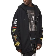 Mix Rock hooded sweatshirt from the S/S2017 Off-White c/o Virgil Abloh collection in black