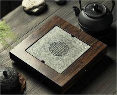 Black Stone Tea Tray Displaying And Serveing Tea Tea Tray Handicraft Chinese Congou Tea Set Chinese Teaism Practice.