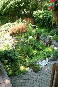 Pond with Cobble walkway