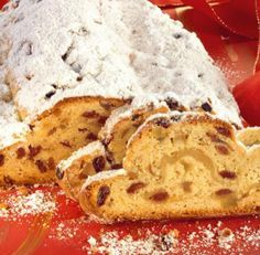 Christstollen Christstollen – A classic stollen with rum raisins and Christmas spices – Christmas Sweets, Holiday Desserts, Christmas Christmas, Christmas Ideas, German Baking, Great Recipes, Favorite Recipes, German Cake, Heritage Recipe