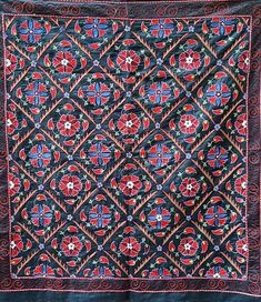 Village Drawing, American Houses, Contemporary Embroidery, Embroidery Motifs, Take Apart, Ikat Fabric, Fabric Strips, Wedding Night, Table Covers