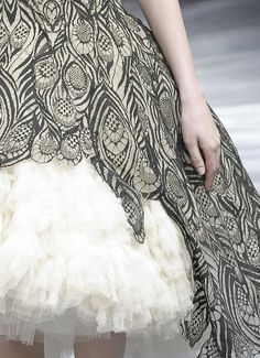 Alexander McQueen peacock lace-and-tulle dress