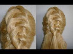 Frisuren für mittel/lange Haare: Haare/Zopf originell flechten.Braided Hairstyle.Peinados - YouTube
