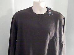 RALPH LAUREN Chaps Mens NEW Brown XL/TG/EG Sueded Fleece Sweat Shirt…