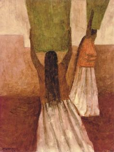 Dos mujeres de Tehuantepec, Rufino Tamayo. Mexican (1899 - 1991)