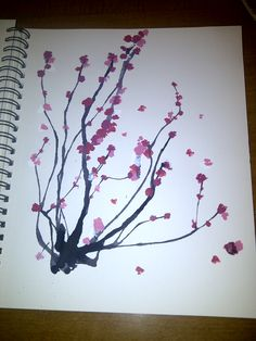 Japanese Cherry Blossom Tree painting