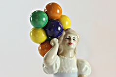 Royal Doulton  Balloons HN 3187, Girl with Balloons Figurine, Royal Doulton Girl with Balloons, Reflections by Royal Doulton, HN3187 #etsy #vintage #iartg #etsygifts #asmsg #findsfromyesteryear #bestofetsy