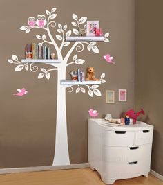 Shelf Tree Wall Decal Nursery Decal Wall Sticker, Shelves Tree Decal, Nursery Tree Decal, Kids Room Decor Sticker, Shelving Tree Wall Decal Bebek Odası – Home Decoration Kids Wall Decals, Nursery Wall Decals, Wall Stickers, Nursery Room, Giraffe Nursery, Tree Decals, Wall Shelf Decor, Wall Shelves, Diy Wall