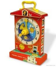 1960s Educational Retro Toy Clock