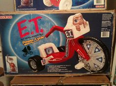 ET Big Wheel Power Cycle. Had lots of skin scrapped of my toes from riding thus thing bare foot! Retro Toys, Vintage Toys, Et The Extra Terrestrial, Tales From The Crypt, Funny Toys, Big Wheel, 90s Childhood, Oldies But Goodies, In My Feelings