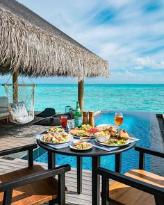 New backyard patio kitchen decks 37 ideas Wonderful Places, Beautiful Places, Water Villa, Patio Kitchen, Outdoor Dining, Outdoor Decor, Maldives Travel, Perfect Day, Luxury Holidays