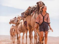 Standing in for real-life writer Robyn Davidson, Mia Wasikowska travels across the breathtaking landscape of Western Australia with only four camels and a beloved dog for company. Her occasional human visitors include a photographer for National Geographic (Adam Driver), an indigenous Australian elder named Mr. Eddy who guides her through sacred lands, and various tourists who come to gawk at the so-called Camel Lady. Davidson's solo trip was beyond the pale for a woman in the