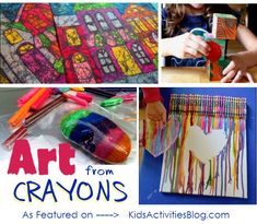 crayon art - dozens of ways that you can make art with crayons.