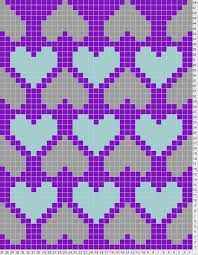 SCHEMAT/SERCA Heart Chart This site also lets you design your own knitting charts- Tricksy Knitter Knitting Charts, Knitting Stitches, Knitting Patterns, Crochet Patterns, Filet Crochet, Crochet Chart, Fair Isle Chart, Fair Isle Pattern, Cross Stitching