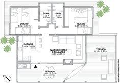 47 Ideas Farmhouse Plans Country Dream Homes Layouts Casa, House Layouts, Best House Plans, Small House Plans, Brick House Designs, Home Office Layouts, House On A Hill, Farmhouse Plans, Cabin Homes