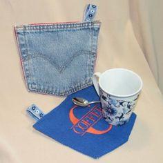 Tutorial – Upcycled Denim Mug Rug