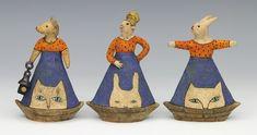 ceramic figure with animals by Sara Swink