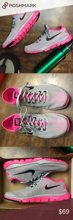 Nike flex supreme tr4 trainers Brand new in box Nike training flex supreme. Grey and pink. Nike Shoes Sneakers