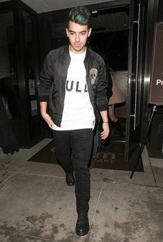 Joe Jonas leaves dinner in Beverly Hills on Wednesday.
