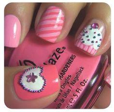 Cupcake nail art