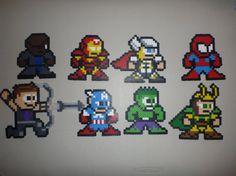 Avengers Medium Perler Bead Sprites (1)