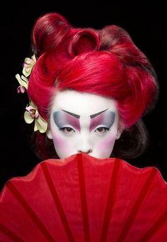 fantasy geisha makeup