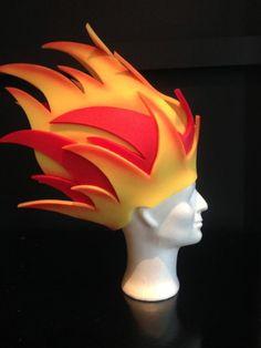 mattress type foam wig Costume Hats, Diy Costumes, Halloween Costumes, Crazy Hat Day, Crazy Hats, Headdress, Headpiece, Foam Crafts, Kids Crafts