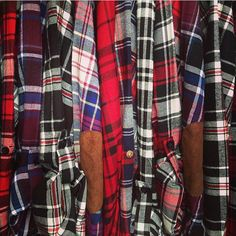 PLAID BUTTON DOWN SHIRT elbow patches, suede, plaid grunge, layering, edgy fall fashion #eclipsestyle