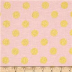 Fabric by the yard, fabric.com $10.98 yard Michael Miller Glitz Metallic Quarter Dot Pearlized Confection