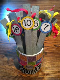 Give your shelf markers a new look. I like these numbered shelf markers. Home Depot and Lowes are great about donating to librarians. Class Library, Elementary Library, Library Lessons, Elementary Schools, Library Ideas, Library Books, Classroom Design, Future Classroom, Classroom Decor