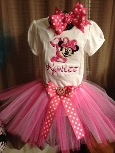 Minnie mouse tutu outfit by tutusbyjessica on Etsy, $37.50