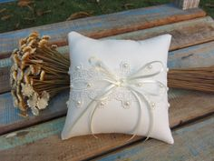 Wedding Favors, Wedding Rings, Lace Ring, Ring Pillow Wedding, Ring Bearer, Rustic Wedding, Projects To Try, Throw Pillows, Classic Cushions
