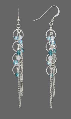 Jewelry Design - Earrings with Swarovski Crystal Beads and Sterling Silver Chain - Fire Mountain Gems and Beads