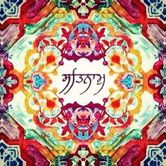 Satnam - Truth is the Name. Guru Granth Sahib Quotes, Sri Guru Granth Sahib, Sikh Quotes, Gurbani Quotes, Namaste, Guru Nanak Jayanti, Yoga Tattoos, Guru Gobind Singh, History Of India