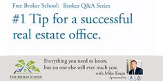 """What is your #1 tip for a successful real estate office?  Mike's answer? """"Recruiting recruiting recruiting."""" Watch how he expands on this idea. It's THE thing that makes or breaks your brokerage."""