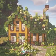 Minecraft House Plans, Minecraft Farm, Minecraft Cottage, Cute Minecraft Houses, Minecraft House Designs, Minecraft Construction, Amazing Minecraft, Minecraft Blueprints, Minecraft Creations
