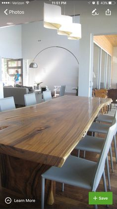Modern Wood Dining Room Table Of worthy Modern Wood Dining Table Ideas Pictures Remodel Popular 12 Person Dining Table, Wooden Dining Tables, Dining Table Design, Modern Dining Table, Table Seating, Round Dining, Dining Room Table, Dining Rooms, Slab Table