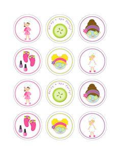 Conjunto de 12 Spa personalizado fiesta por KiddieCreations1 …