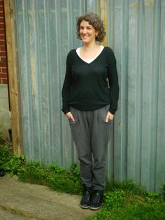 Button and Needle: Sewn: Named Alexandria trousers