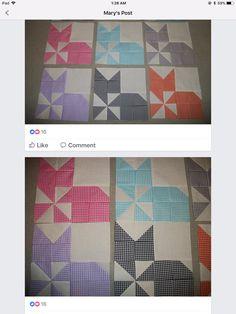 Cute cat quilt idea - photo only Cat Quilt Patterns, Quilt Square Patterns, Square Quilt, Dog Quilts, Barn Quilts, Mini Quilts, Farm Animal Quilt, Gingham Quilt, Quilt Blocks Easy