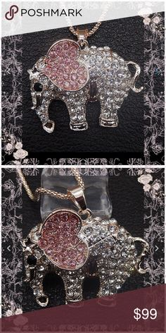 🐘just in 🐘Elephant 🐘 super cute necklace Super cute brand new boutique item - chain is approx 13 inches long and the elephant is about 2 inches wide and 1 1/2 inches tall Jewelry Necklaces