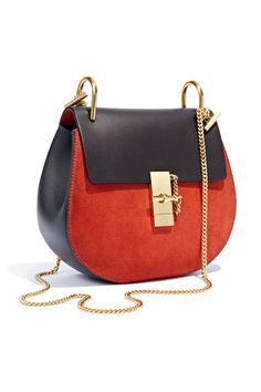 Love the gold details on this new Chloe handbag!