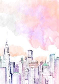 New York skyline illustration in watercolor More – # d – Christin @ – Vipetrichor Vipetrichor images Ideas of the Aesthetic Wallpaper Iphone Pink Ideas of the Aesthetic Wallpaper Iphone Pink – – # Tropical Jungle Leaves Pattern # … Altar Particular, Tumblr Wallpaper, Wallpaper Quotes, Oeuvre D'art, Cute Wallpapers, Desktop Wallpapers, Wallpaper For Phone, Wallpaper For Computer Backgrounds, Winter Wallpapers