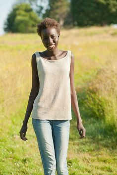 Inspired by the clean, spare lines of Scandinavian design and the sleek, straight silhouette of 1920's fashion coupled with Quince & Co.'s crisp, luminous Sparrow, the Kit Camisole is a fresh combination of modern and vintage. Knit in the round from the bottom up, it utilizes the wonderful texture of a modified linen stitch against the simple background of stockinette, and the linen stitch panel up the back adds a touch of drape and shaping to the whole. Dress it up with heels and a penci...