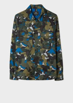 premium selection 2f398 04339 Veste Surchemise Homme Camouflage Kaki En Twill De Coton