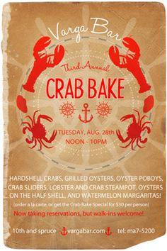 Varga Bar To Host Its Third Annual Crab Bake, Tuesday, August 28