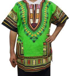 Cotton African Unisex  Men Women Dashiki Kaftan Shirt Stylish Vintage Boho Dress #Handmade #Hawaiian